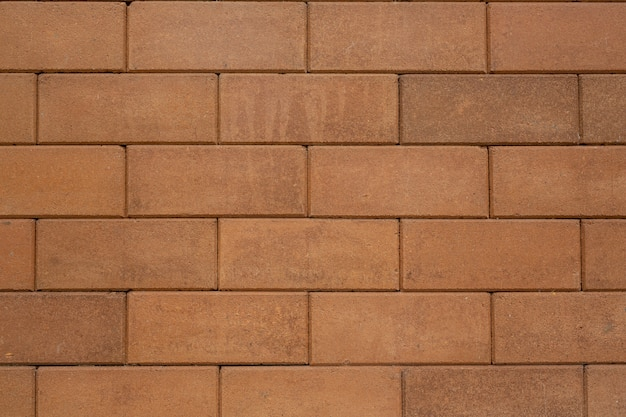 Brown block bricks.