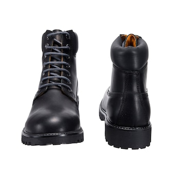 Brown boots for daily wear, isolated clothing accessories on a white surface