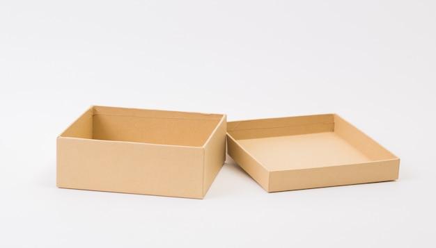Brown box on white