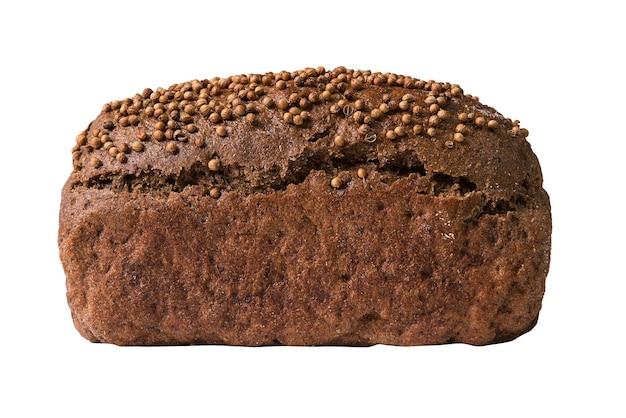 Черный хлеб, изолированные на белом.