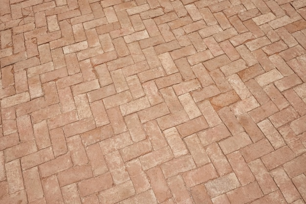 Brown brick walkway of texture background.