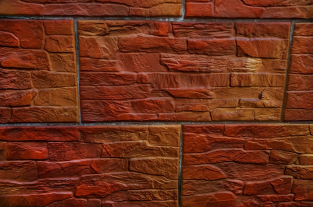 Brown brick wall as background
