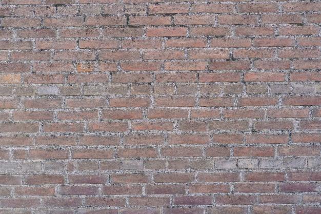 茶色のレンガの壁の背景。レンガの壁の背景