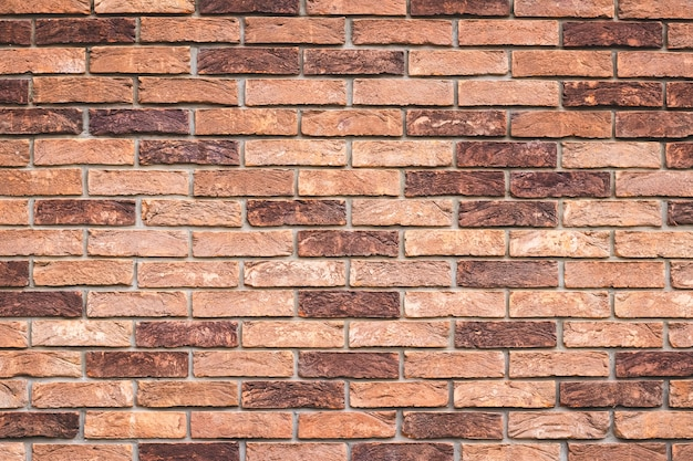 Brown brick wall texture, abstract seamless architectural pattern. urban street, art multicolor wallpaper.