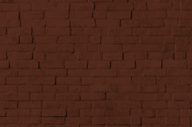Brown brick wall textured background
