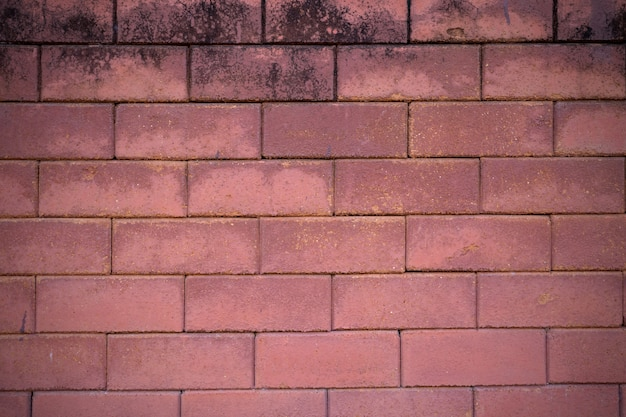 Brown brick walls overlapped into layers