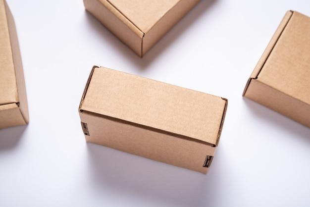 Brown cardboard box, backside