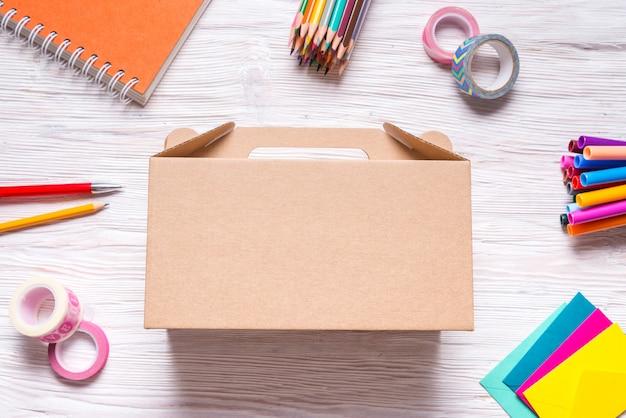 Brown cardboard carton box, case
