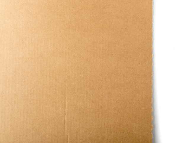 Brown cardboard, paper board or carton background