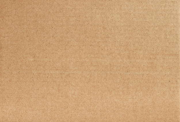 Brown cardboard sheet abstract background, texture of recycle paper box