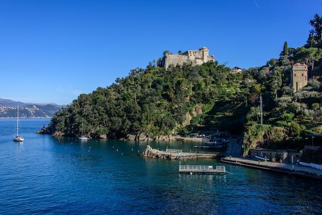 Brown castle in portofino