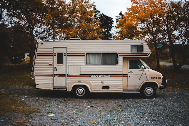 Brown centurion rv truck