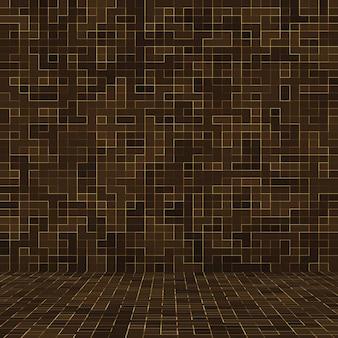 茶色のセラミック石のモザイクの背景。