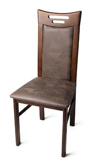 Коричневый стул, изолированные на белом фоне