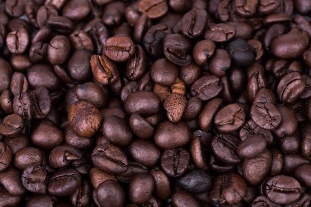 Marrone caffè fagioli texture di sfondo,