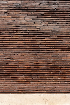 Brown copy space brick wall background