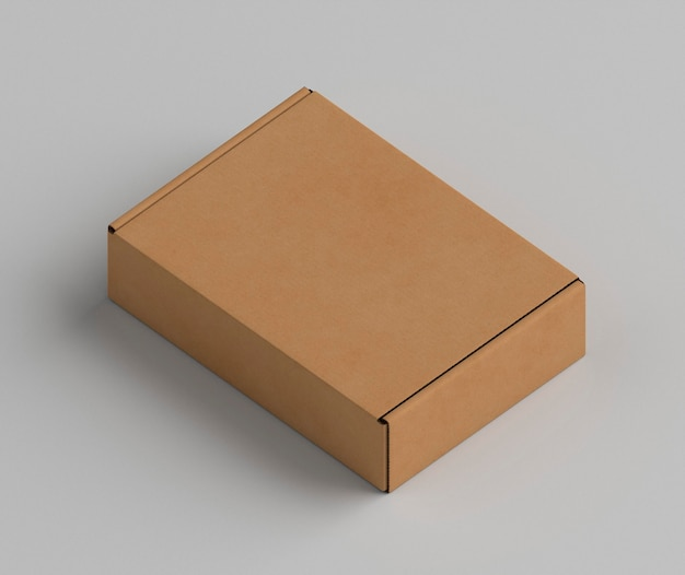 Brown copy space cardboard box