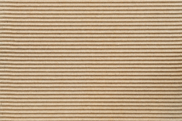 Brown corrugated cardboard