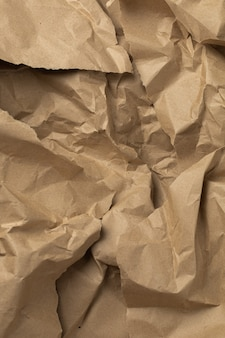 갈색 공예 포장 구겨진 종이 배경