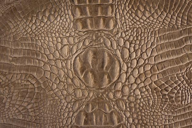背景と質感のための茶色のクロコダイルレザーパターン