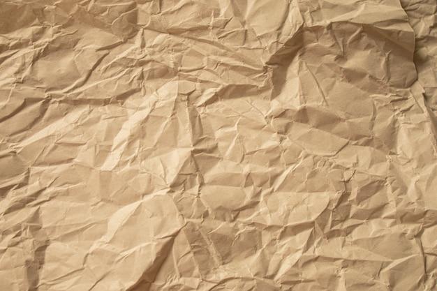 Коричневый мятую бумагу крупным планом текстуру фона