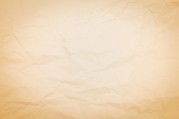 Brown crumpled paper texture background, wrinkled