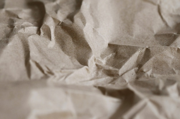 Brown crumpled paper texture background