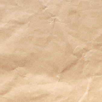 Brown crumpled paper texture background.