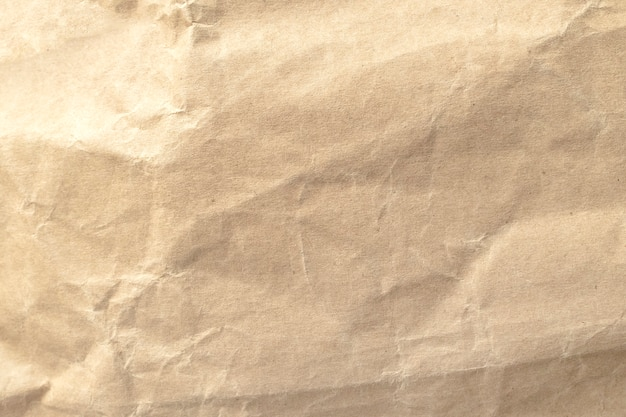 Brown crumpled paper texture for backgrounds.