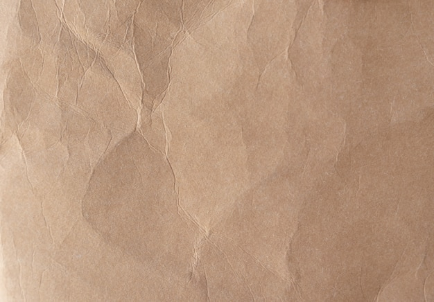 Brown crumpled paper texture Premium Photo