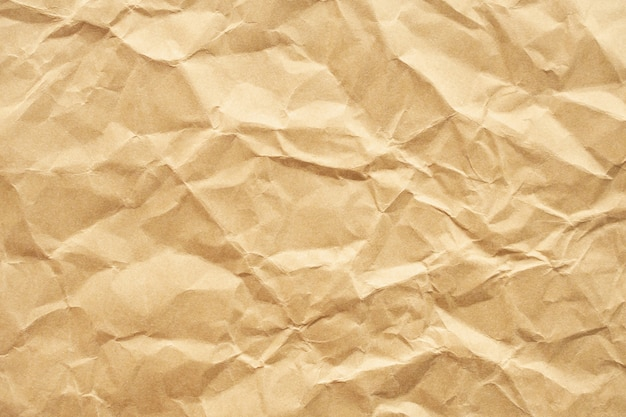 Brown crumpled recycle paper texture