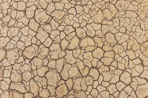 Brown dry soil or desert cracked ground texture