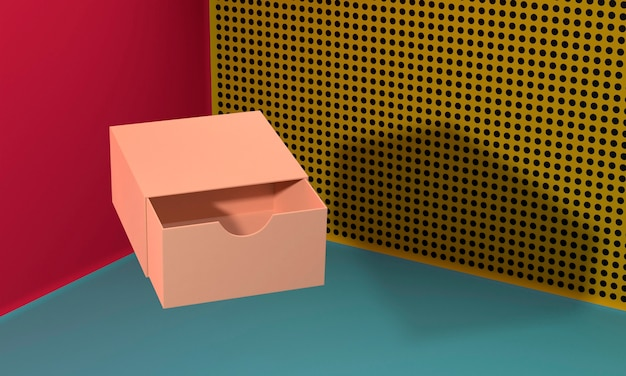 Brown empty simplistic cardboard box