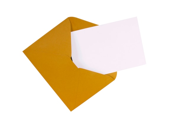 Brown envelope post card