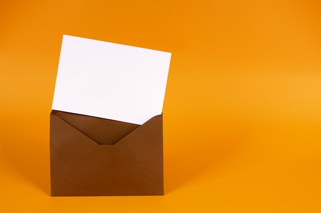 Brown envelope with letter