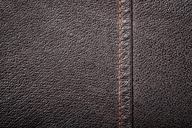 Brown genuine leather texture background