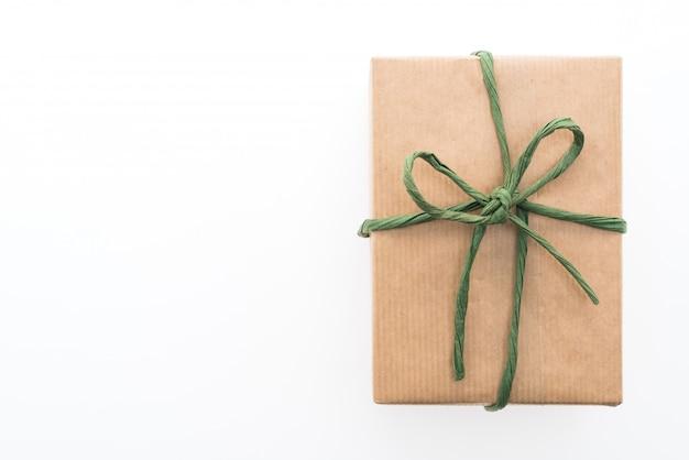 Коричневая подарочная коробка