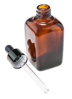 Brown glass bottle chemical skin.