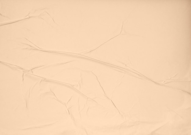 Brown glue wrinkled and crumpled paper texture