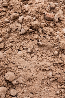 Brown ground surface. close up natural background. ground texture, vertical