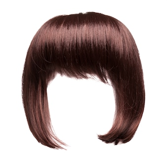Brown hair isolated