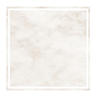 Brown hand drawn watercolor rectangular frame background texture with stains