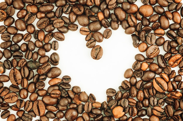 Brown heart shaped texture background