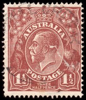 Brown king george v stamp