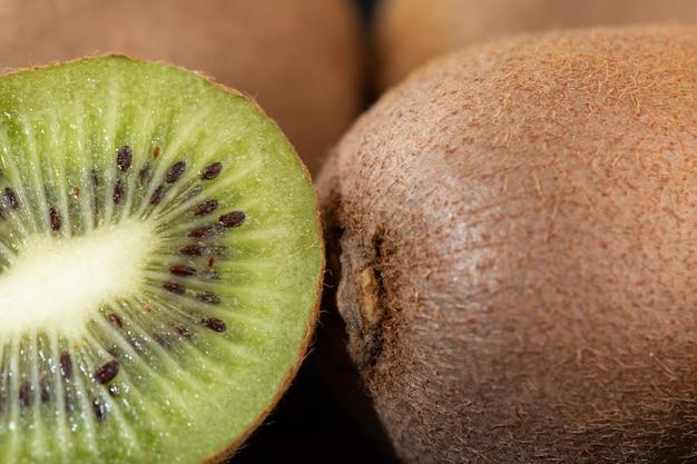 Brown kiwi juicy mellow fresh ripe isolated