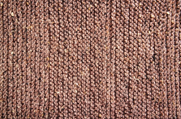 Brown knitting wool texture for background