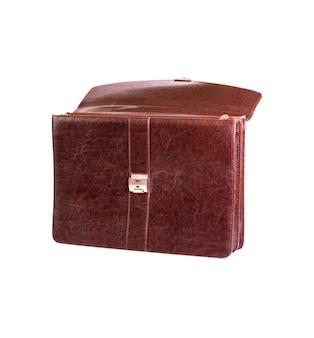 分離されたオフィス用ブラウンレザーバッグ