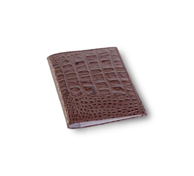 分離された茶色の革製の財布