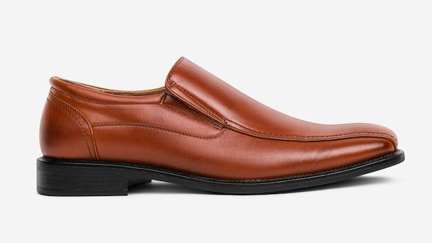 Scarpe da uomo slip-on in pelle marrone fashion