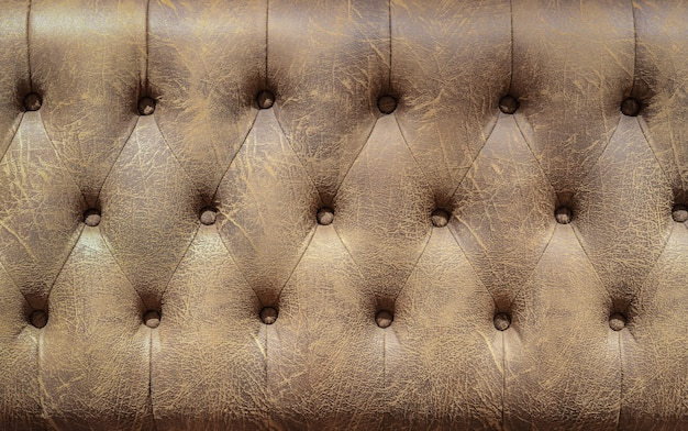 Brown leather sofa background